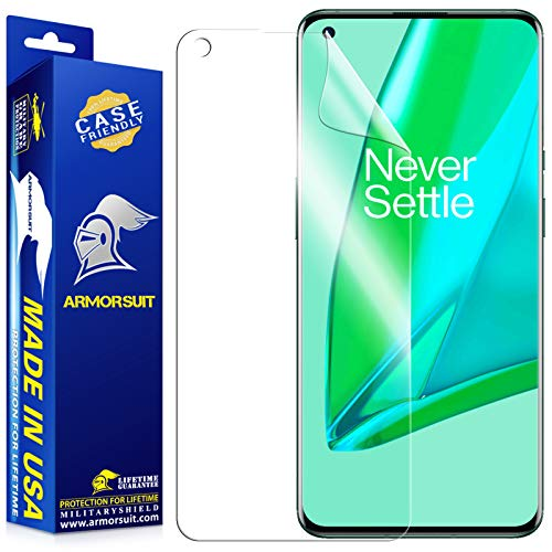 ArmorSuit Made in USA Screen Protector Designed for OnePlus 9 Pro Case Friendly MilitaryShield Anti-Bubble HD Clear Film