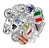 DZCYAN 60 Pcs/Set Visa Postmark Seal Stamp Country City Shape Stickers for Pad Phone Case Car Skateboard Helmet Bicycle Suitcase Toys