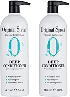 Original Sprout Natural Shampoo and Deep Conditioner Bundle. Organic Sulfate Free Shampoo and Deep Conditioning Treatment ...