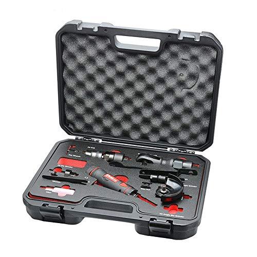 Pneumatische 5-in-1 tool set, Pneumatische Boor Pneumatische Machine van de Gravure haakse slijper Ratelsleutel Handje