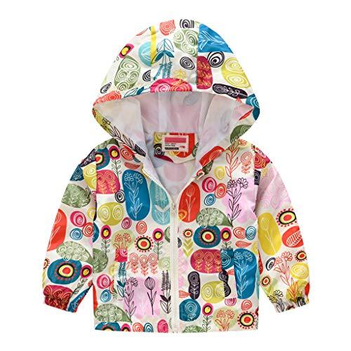 A2A Toddler Kids Baby Girls Boys Adorable Cartoon Dinosaur Print Hooded Jackets Zip Up Long Sleeve Pocket Windproof Raincoat