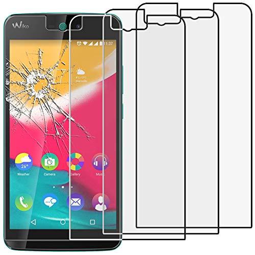 ebestStar - kompatibel mit Wiko Rainbow Jam 4G Panzerglas x3 Schutzfolie Glas, Schutzglas Bildschirmschutz, Bildschirmschutzfolie 9H gehärtes Glas [Phone: 143.1 x 71.4 x 8.7mm, 5.0'']