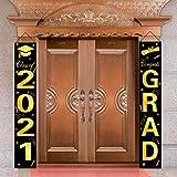 2021 Congrats Grad Bandiere Decorazioni Festa Laurea Congratulazioni Classe 2021 Segnale P...