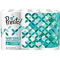 6-Count Presto! Flex-a-Size Paper Towels, Huge Roll (15 Regular Rolls)