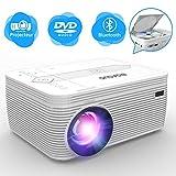 BIGASUO Projecteur DVD , Bluetooth Projecteur Portable 3500 lumens de vidéo projecteur cinéma avec...