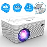 BIGASUO Projecteur DVD , Bluetooth Projecteur Portable 3500 lumens de vidéo...