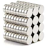 DIYMAG Refrigerator Magnets Premium Brushed Nickel Fridge Magnets, Office Magnets - 8 X 3 mm 100Piece
