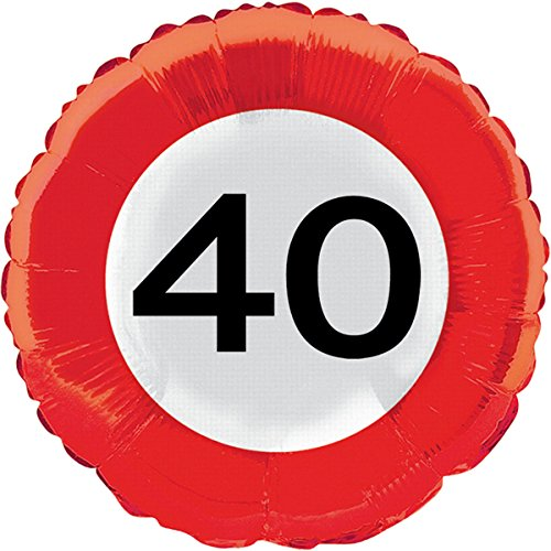 ZAHL 40 Wegverkeersinformatie, voor verjaardag, folies, ballon, party, helium, decoratie, ballongas, motto 40 veertig jaar, felicitatie