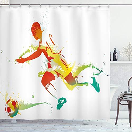 ABAKUHAUS Sala de Adolescentes Cortina de Baño, Jugador de fútbol de