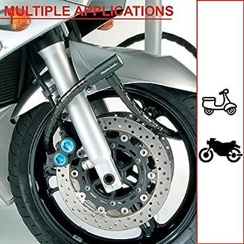 MASTER LOCK Cable Antivol Moto[Clé] [Extérieur] 8115EURDPS - Idéal pour Moto, Scooter et Vélo, Mixte adulte, Noir, 1,2 m