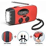 Odoland Solar Radio Multifunktion Outdoor Radio –Taschenlampe+Radio+Powerbank Handy-Lader, tragbar...