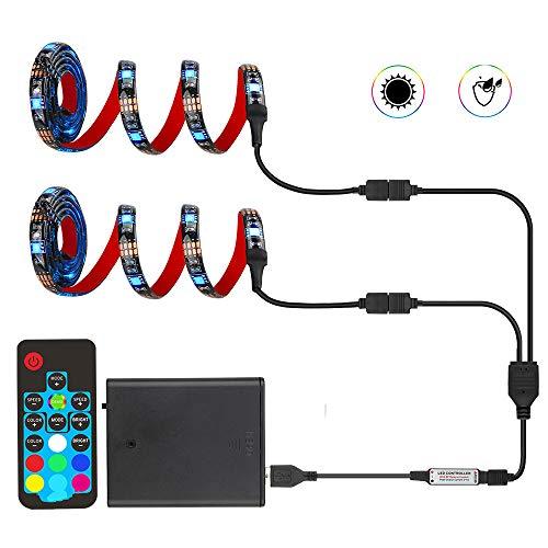 Led Strip 5050 RGB Led Light Rf 7key voor Tv, Skateboard, Fiets, Gloeiende Schoenen