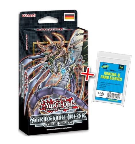 A YuGiOh Cyber Strike Structure Deck | DEUTSCH | Yu-Gi-Oh! Karten NEU GÜNSTIG | + Arkero-G 50 Small Soft Sleeves japanische Kartenhüllen