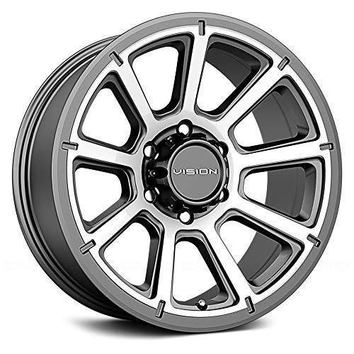 "Vision 353 Turbine Trailer 14x5.5 5x4.5"" +0mm Gunmetal Wheel Rim 14"" Inch"