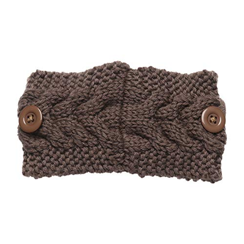 OMICE Winter-Haarband für Damen und Mädchen, weich, elastisch, Bonbonfarben, gestrickt, dick, warm, breit, 6 Stück