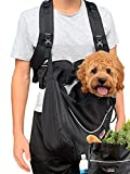 Woofgear Dog Sling Front Pet Carrier For Small Dogs and Cats   3 Piece Hands-Free Harness, Puppy Pooch Pouch, Shopping Bag, and Optional Leash for City, Travel or Hiking   Breathable Mesh Up to 15 lbs