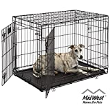 Dog Crate 1636DDU| MidWest Life Stages 36' Double Door Folding Metal...