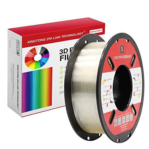 Filamento 3D PLA 1.75mm de Impresión Materiales Filamento para 3D Impresora Transparente Precisión Dimensional +/- 0.02 mm