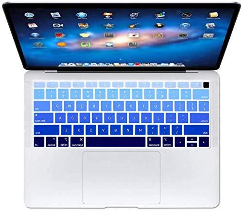 Who-Care Engels Taal Toetsenbord Cover Voor Macbook Voor Air 13 2018 Water Stofbestendig Geleidelijke Wijziging Kleuren, Gradient 134 size Gradientblauw