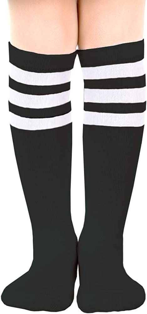 Sarfel Toddler Socks Girls Knee High Socks for Boys Kids Tube Socks Striped Baby Stocking Long Soccer Socks