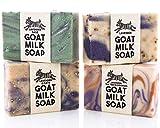 Lavender Variety Pack ~ Creamy Goats Milk Soap   All Natural Ingredients   Lavender, Lavender & Oats, Lavender Sage & Lavender, Tea Tree & Orange   SLS, BPA & Paraben Free! Handmade in the USA!