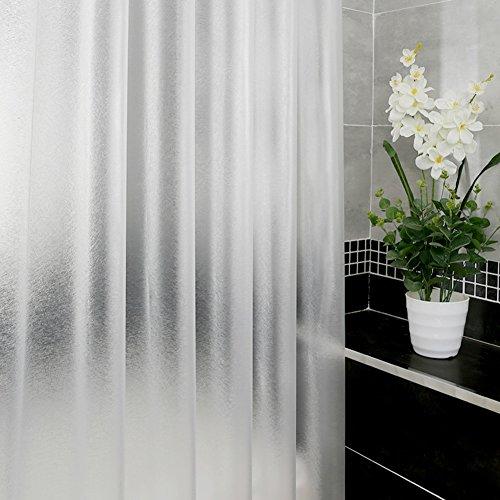 Zuiver douchegordijn, douchegordijn, badgordijn, waterdicht, dikke, meeldauw, wc-gordijnen, douchegordijnen, extra lang W200xH220cm(79x87inch) Kleur: wit