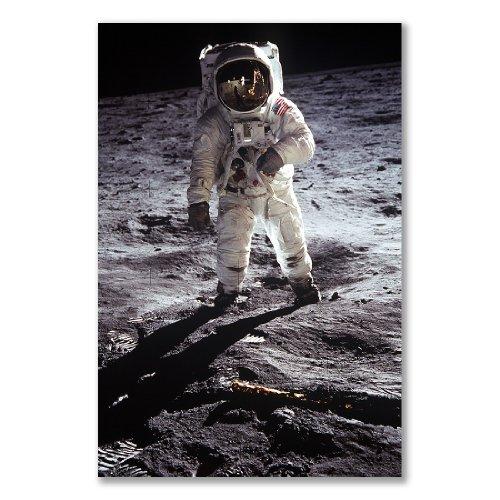 OpenPrint Poster Art Stampato: Astronauta Luna Apollo 11(A3Maxi–28,8x 43.2cm/28,7x 43,2cm, Semi-Mat in Raso, Carta Regalo Art Home Decor Decorativo)