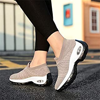 Women's Vulcanize Shoes - New Mesh Women Men Outdoor Running Shoes Couples Breathable Soft Athletics Jogging Sneaker (apri...