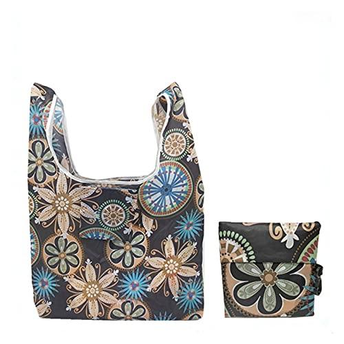 HWZZ Borsa Donna, 2pcs Home Shopping Bags Organizzatore Bella Sacchetto di Verdure di Frutta Riutilizzabile Borsa a Mano (Color : 5 UK, Size : 55x36 CM)
