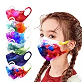 12PCS Kid Face Protection Fashion Printed Breathable Reusable Washable Face Bandanas Dustproof Windproof with Elastic Earloop for School and Outdoor Activities