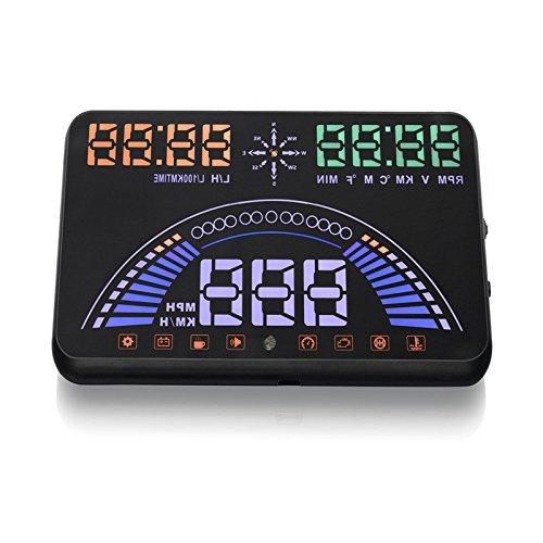 New 14,7 cm S7 HUD Head Up Display avec OBD2 Interface Plug Play KM/H MPH excès de vitesse avertissement Bouquet OBD & Système GPS librement commutateur