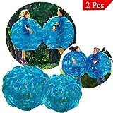 Youth Union Bubball Bambina Figlio Bubble Ball Pallone Gonfiabile Pallone da Calcio Gigante Bumper Ball per Adulti in PVC Inclusa Pompa (60cm, Blu)