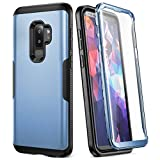 YOUMAKER Galaxy S9+ Plus Case, Rose Gold with Built-in Screen Protector Heavy Duty Protection Shockproof Slim Fit Full Body Case Cover for Samsung Galaxy S9 Plus 6.2 inch - Blue/Black