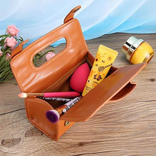 Bolsa de afeitar duradera Bolsa de cosméticos para hombres para uso doméstico(brown)
