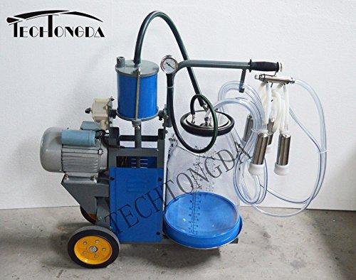 Techtongda Cow Piston Milking Machine with Transparent Bucket Milker 110V