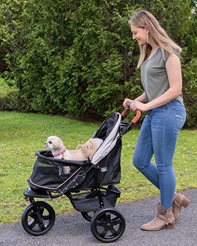 Pet Gear AT3 No-Zip Pet Stroller, Summit Grey 5