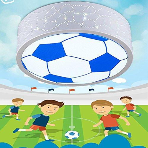 AMZH Kinderzimmer Fußball Lampe LED Deckenleuchte Junge Schlafzimmer Lichtkorb Fußball Kreis Kreativ Kindergarten Lampe Durchmesser 50Cm LED 36W 220V