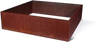 Veradek Metallic Series Corten Steel Raised Garden Bed, 13-Inch Height by 48-Inch Width by 48-Inch Length, Rust (GBVSQCS)