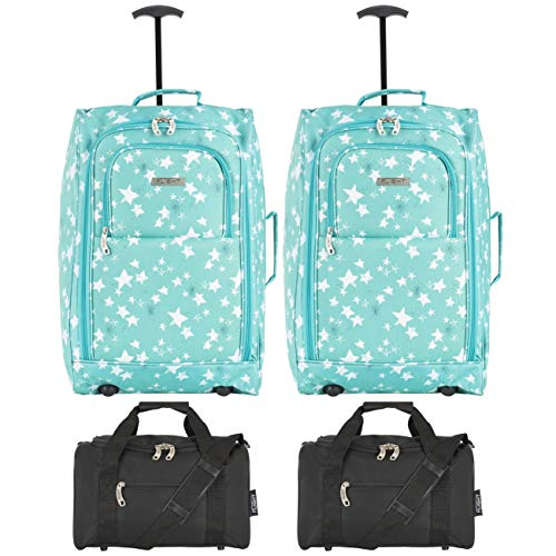 Flight Knight Ryanair Maximum Set of 2 Cabin Suitcase 55x40x20cm and Carry On Hand Luggage Vueling, Emirates Largest Cabin Size Approved