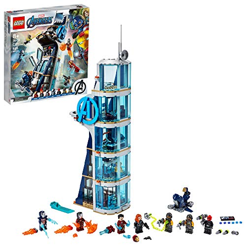 LEGO Marvel Avengers: Avengers Tower Battle 76166 Collectible Building Toy with Action Scenes and Superhero Minifigures; Cool Holiday or Birthday Gift, New 2020 (685 Pieces)