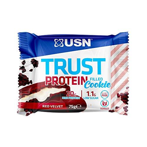 USN Protein Filled Trust Cookie, Red Velvet Flavor 12 x 75g Cookies