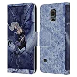Head Case Designs Licenciado Oficialmente Amy Brown Moonsprite Pixies Carcasa de Cuero Tipo Libro Compatible con Samsung Galaxy S5 / S5 Neo