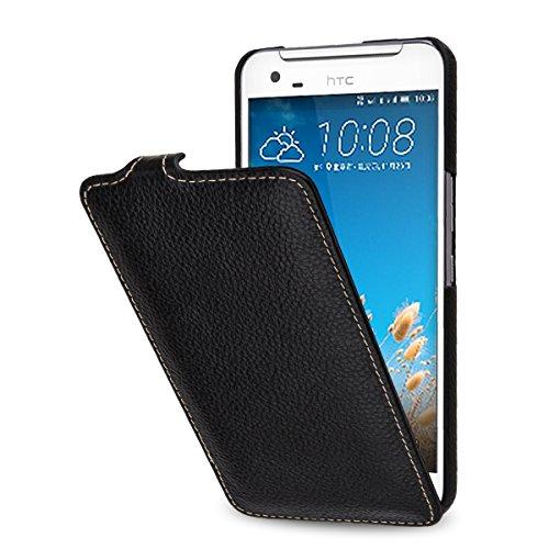 StilGut UltraSlim Hülle, Tasche aus Leder kompatibel mit HTC One X9 / One X9 Dual SIM, Schwarz
