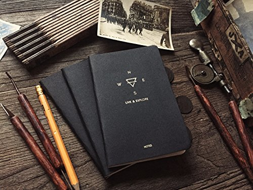 Explore Notes - Travel Notebooks - Black 3-Pack Photo #5