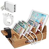 Pezin & Hulin Bamboo Charging Station Holder with 5...