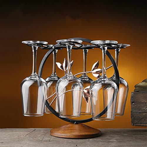 Botellero de Vino, Copa de vino taza de taza de hierro alambre hueco de vino soporte champagne vino de vino soporte colgando vidrios de beber stemware rack estantería