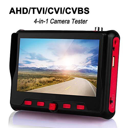TOMLOV 4 in 1 CCTV Monitor Tester 5Pollici TFT-LCD 800RGB ×480 Risoluzione PTZ 8MP Portatile Fotocamera Videocamera AHD TVI CVI CVBS Tester UTC OSD