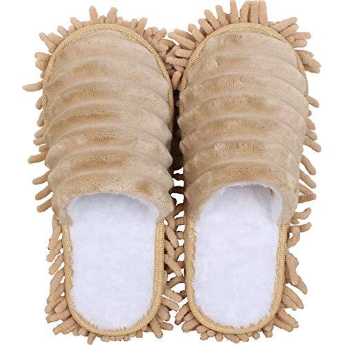 Zapatillas de Limpieza de Piso para Mujer 2 parines deslizadores de limpieza de zapatillas zapatillas de limpieza zapatillas de trapeador antideslizante Limpieza de zapatillas de polvo Casa zapatillas