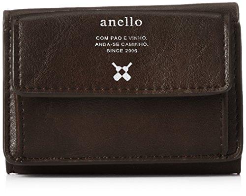 [アネロ] ミニ財布 PremiumPU 三つ折りミニ財布 AJ-B1516 ダークブラウン