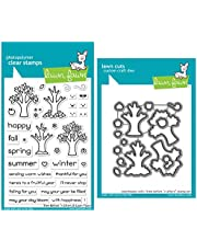 Lawn Fawn Tree Before 'n Afters Clear Stamps and Coordinating Dies, Bundle of 2 Items (LF2018, LF2019)